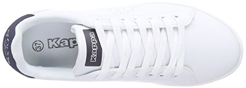 Kappa COURT, Sneakers basses mixte adulte Blanc (1067 White/navy)