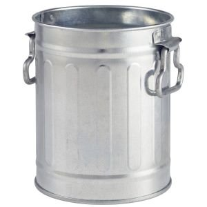 Miniature Galvanised Bin 8.5x11.2cm Cutlery Holder Side Dish Catering Cafe Bar