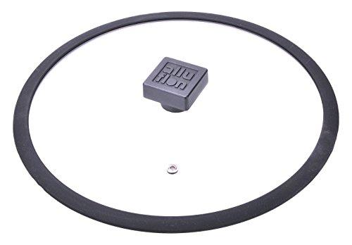 Alluflon Etnea Coperchio Vetro, Bordo Silicone, Trasparente, Diametro 24 cm