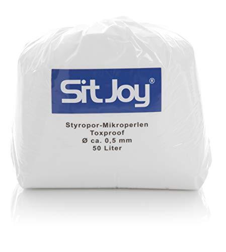 Sitjoy Sitzsack Füllung   Styropor-Mikro-Perlen Schadstoffgeprüft   50 Liter   Nachfüllbeutel