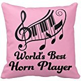 Worlds Best COR lecteur Musique Cadeau Taie d'oreiller 45,7 x 45,7 cm