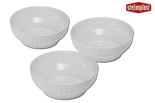 Stefanplast Gerippter Salatschüssel, weiß, 30x 24x 30cm (Queens Kochen Geschirr)