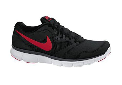 Flex esperienza Rn 3 Uomo Nero Rosso Low Top atletici corsa Scarpe Sneakers (9 M) Black / Anthracite / White / Red