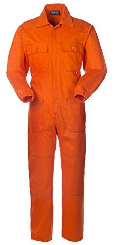 Tuta Uomo Da Per Lavori Edili O Stradali In Cotone Arancione A40109 (XL)