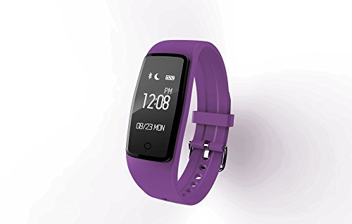 Fitness Tracker Armband Uhr Smart Bracelet/Smartwatch mit Touchscreen OLED Überwachung des Schlaf, Meldungen Anrufe/SMS/WHATSAPP/Facebook Armband Sport wasserdicht für android und ios S1, violett -