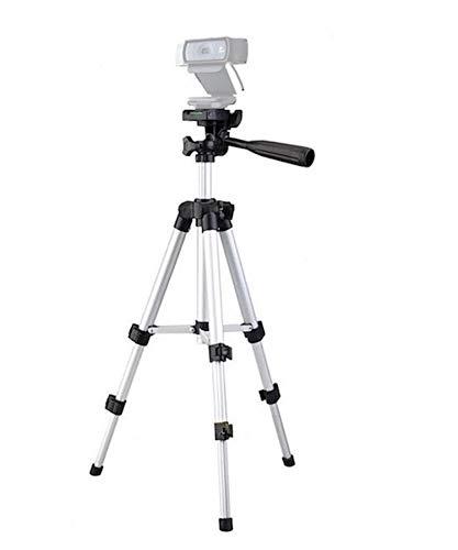 Webcam treppiede treppiede per fotocamera, supporto per Logitech webcam Brio 4K, C925E, C922x, C922, C930E, C930, C920, C615-65cm altezza argento