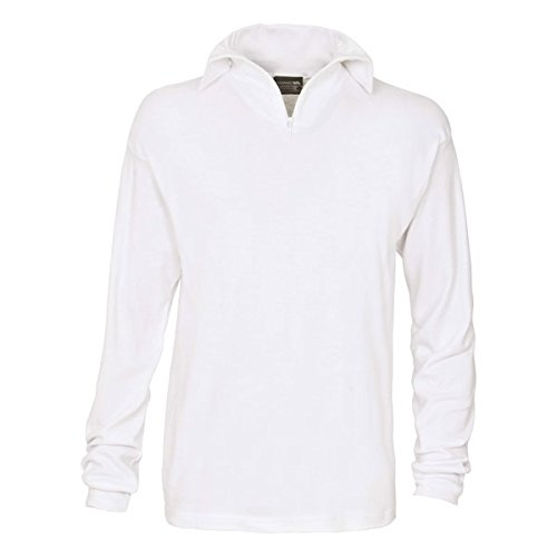 Fleece Langarm-polo-shirt (Trespass Men'Dolomite Ski s Polo Shirt Xl  - weiß)