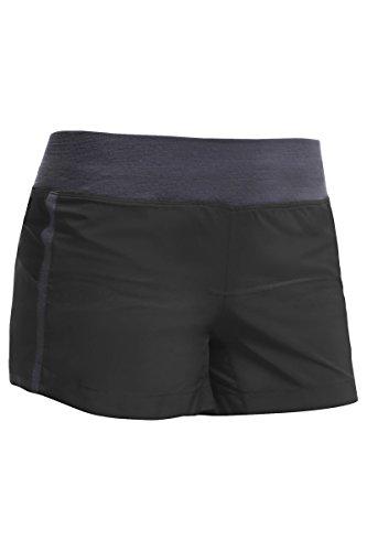 Icebreaker Damen Shorts Spark, Black/Panther, L