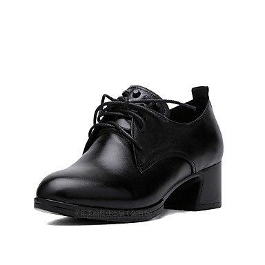 Rtry Mujer Zapatos Formales Talones Cuero Genuino Primavera / Otoño Oficina & Amp; Zapatos De Carrera Formal Del Talón Grueso Negro 1a-1 3/4 En Negro Us7.5 / Eu38 / Uk5.5 / Cn38 Us5.5 / Eu36 / Uk3.5 / Cn35