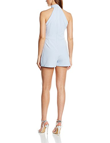 New Look High Neck Scuba Playsuit, Mutande Donna Azzurro