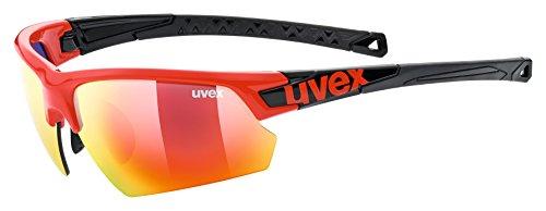 Uvex Erwachsene Sportstyle 224 Sportbrille, red-black, One Size