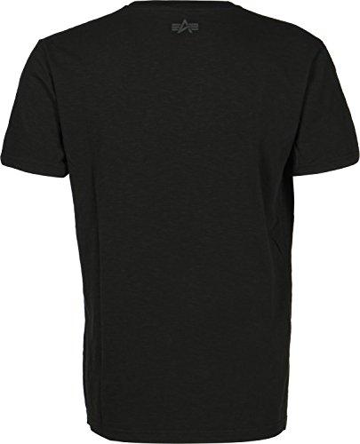 Alpha Industries Herren Oberteile / T-Shirt Camo Black/Black