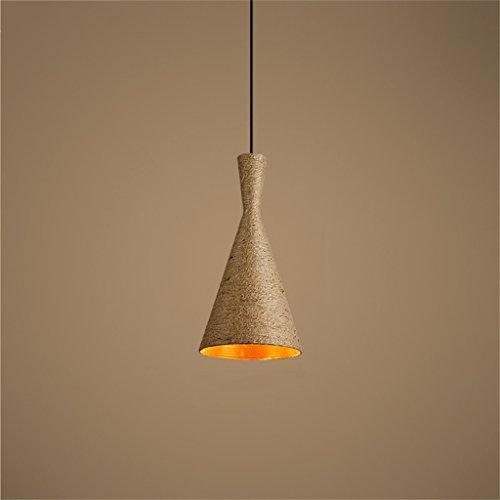 YFF ~ Industriell Kandelaber Retro Kreative Hanfseil Lampe Loft Industrielle Wind Persönlichkeit Kronleuchter (Einzelne Lampe) Kreativ Familie Beleuchtung (größe : B) (Einzelne Kandelaber)