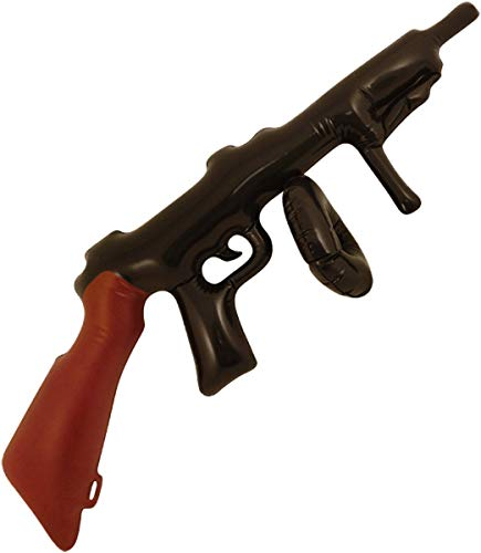 Kostüm Tommy Guns - Henbrandt Aufblasbare Tommy Gun Gangster Kostüm-Zubehör, 80 cm, Schwarz