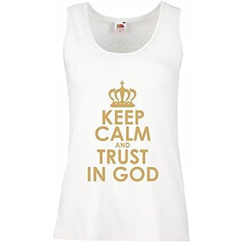 Serbatoio femminile Trust in God! Jesus shirt