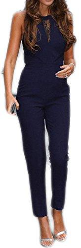 Damen Elegant Jumpsuit Bodysuit Overall Turnanzug Hosen