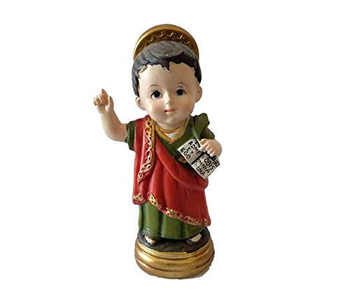 Figura San Pancracio Infantil Resina Caja
