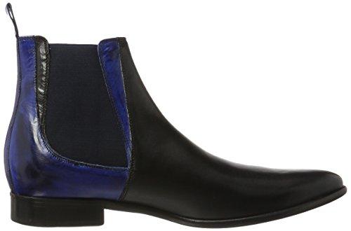 Melvin & HamiltonToni 6 - Stivali Chelsea Uomo Schwarz (Crust Black (1, 3)/E-Blue (3, 4), Ela. Navy, Ls)