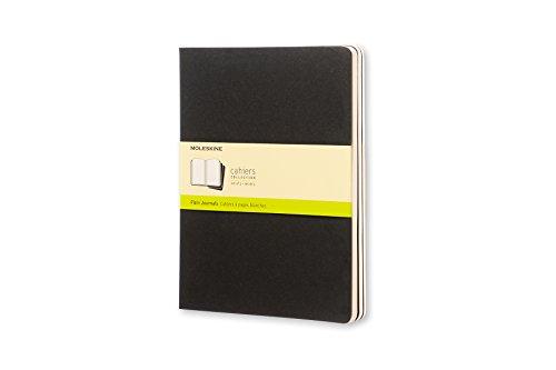 Moleskine QP323 - Pack de 3 cuadernos, XL 19 x 25, color negro