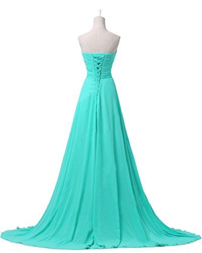 Gorgeous Bride Modisch Herz-Ausschnitte Chiffon Lang A-Linie Schleppe Festkleid Ballkleid Abendkleider Schwarz