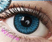 """Farbige Kontaktlinsen Jahreslinsen blau """" Blue"""" dolly ohne Stärke COSPLAY"""