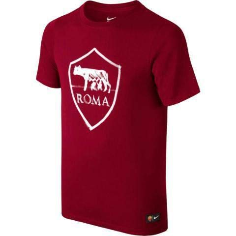 Nike AS Roma Crest tee YTH Camiseta de Manga Corta, Niños, Rojo Team Red, S
