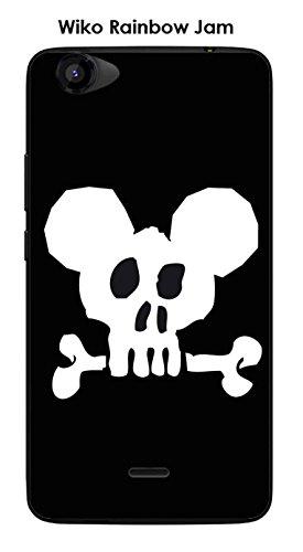 Coque Wiko Rainbow Jam design Mickey Skull