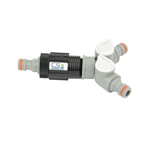 Hendrickson Druckregulator 3/4 Zoll ig 0,6 bar Z20-2 mit White-Line Geräteanschluss u. WL 2 Wege Y-Absperrventil für CS Perlschlauch (Wasser-absperrventil Automatische)