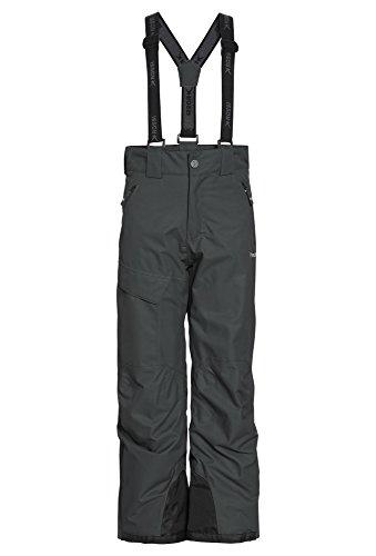 ROSSI Stylische Freeride Skihose - Jungen Ski-Hose Kinder Schnee Outdoor Funktion Winter dunkelgrau,122/28