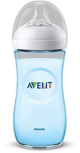 Philips SCF038/17 Avent Biberon Natural Anti-Colica, 330 ml, Azzurro