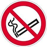 Aufkleber Rauchen verboten nach ISO 7010 Folie 2cm Ø 10 Piktogramme