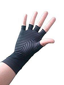 Valuepact Arthritis-Handschuh,Kompressionshandschuh mit Erholungsfunktion (Halbfinger), aus einem hohen Anteil an Kupfer als aktive Komponente, Schwarz, schwarz (Qualität Die Arbeit Der Handschuh)