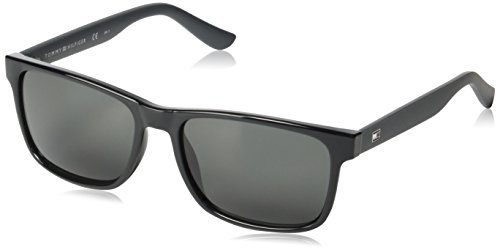 Tommy Hilfiger Herren TH 1418/S P9 VY0 56 Sonnenbrille, Schwarz (Black Grey),