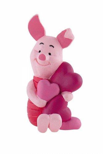 Bullyland 12326 - Spielfigur - Walt Disney Winnie Puuh - Ferkel mit Herzen, ca. 6,3 (Disney Ferkel)