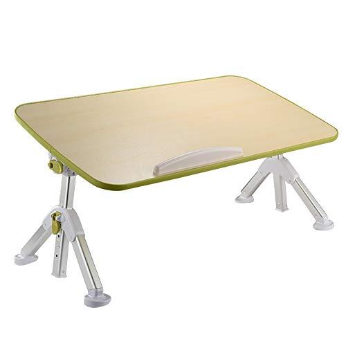 Drop-Blatt Klapptisch Einstellbar, MDF-Multifunktionshebe Schreibtisch, Computer Kindertisch (Farbe : Green) -