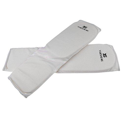 Baoblaze Schienbeinschoner Erwachsene Schienbeinschützer Kampfsport Kickboxen Schienbein - Weiß, S -