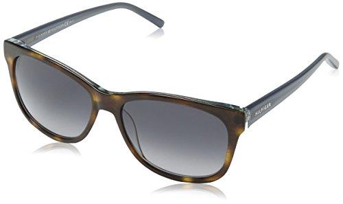 Tommy Hilfiger Unisex-Erwachsene TH 1985 9O MK5 56 Sonnenbrille, Grau (Glttrgrey),