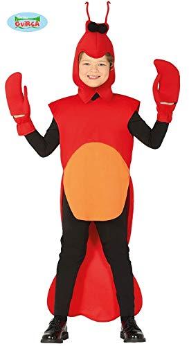 Fiesta Guirca Lustiges Hummerkostüm für Kinder Meerestier rot-schwarz 123/134 (7-9 Jahre) (Hummer Kostüm Kinder)