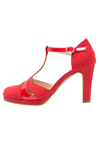 Anna Field Mary Janes für Damen in Rot - Riemchenpumps 8,5 cm Absatz, - Jane-schuhe Damen Rot Mary
