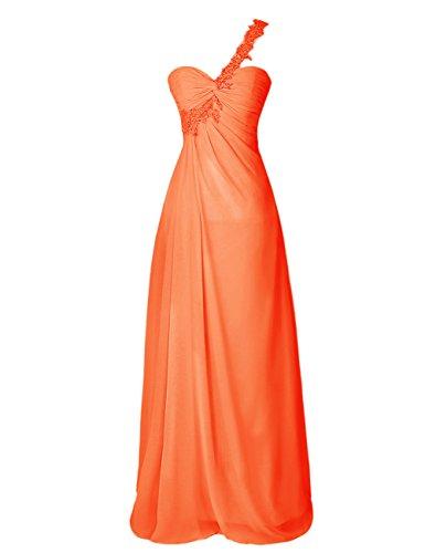 Dresstells, Robe de soirée Robe de cérémonie Robe de demoiselle d'honneur bustier en cœur épaule asymétrique dos nu Orange