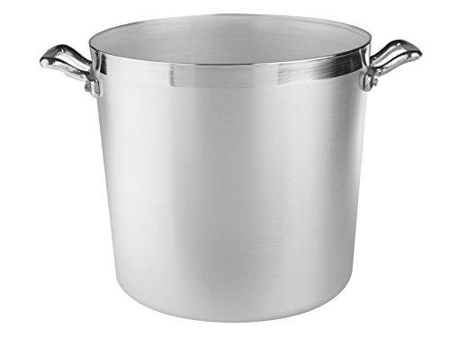 Ollas Agnelli cilíndricos Pot, Aluminio BLTF, con 2 manijas de Acero Inoxidable, 20 litros, Plata