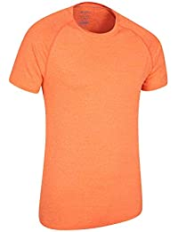 Mountain Warehouse Camiseta a Rayas IsoCool Agra para Hombre - Protección UPF30+ - Manga Corta - Ligera y Secado rápido - Transpirable - para Senderismo, Correr, Viajes