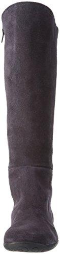 Johannes W.Jannike - Stivali alti con imbottitura leggera Donna Multicolore (Mehrfarbig (Antracita / Negro))