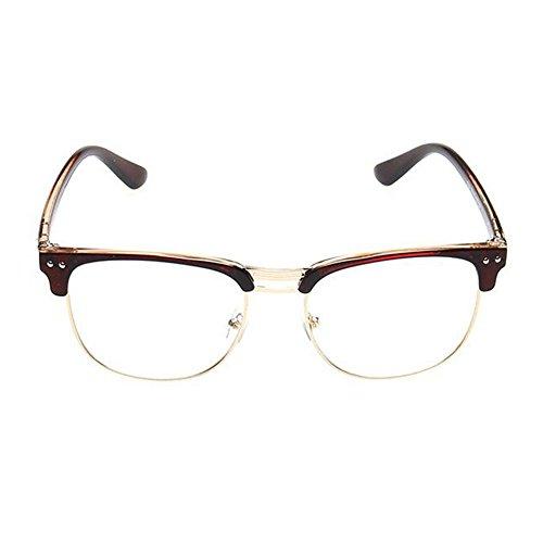Haodasi Unisex Myopia Glasses Retro College Eyeglass Anti-radiation Nearsighted Glasses Myopie Lunettes Court Sighted Lunettes Nearsighted Lunettes Brown