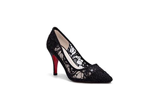ZHANGYUSEN Sommer Neue Spitzen High Heels, Professionelle Joker und High Heel Schuhe, 37, Weiß. 5 cm