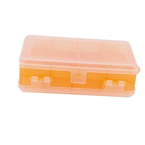 Doppel offen Angelset Komplettset Angelbox Zubehör für Angelsport Orange