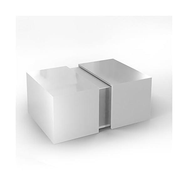 🛋 VICCO Couchtisch LED Weiß Hochglanz - Loungetisch Wohnzimmer ...