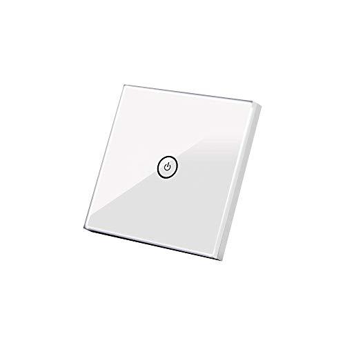 Smart lichtschalter, Queta WLAN WiFi Smart Lichtschalter Arbeitet mit Amazon Alexa, Google Home, Touchscreen-Schalter (1weg)