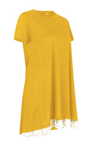 Angashion Camicia - Donna Yellow