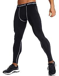 INSTINNCT Herren Sport Fitness Lang Hose Kompression Tights Funktionswäsche Pants